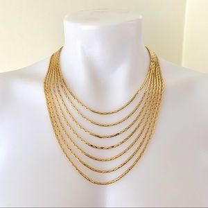 Vtg Nolan Miller Star Luster Cleopatra Necklace